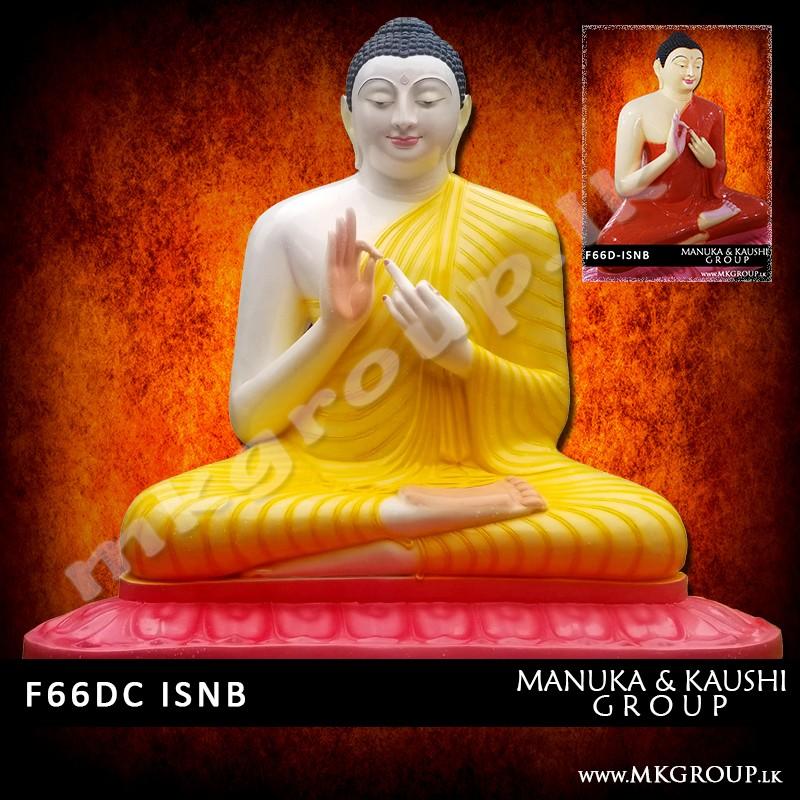 FIBER 66inch - Dharmachakra Buddha Statue