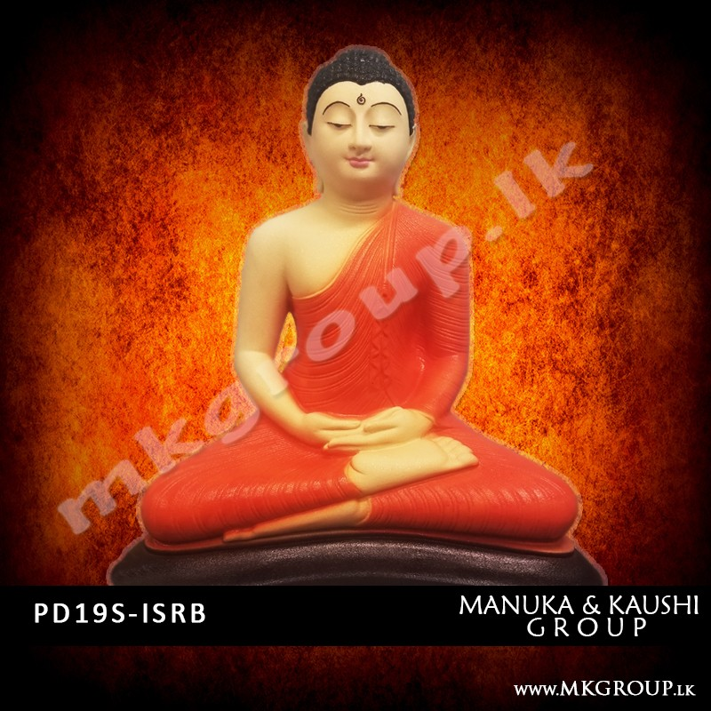 PAINTED 19inch - Dhyana Buddha Statue