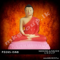 PAINTED 26inch - Dhyana Buddha Statue